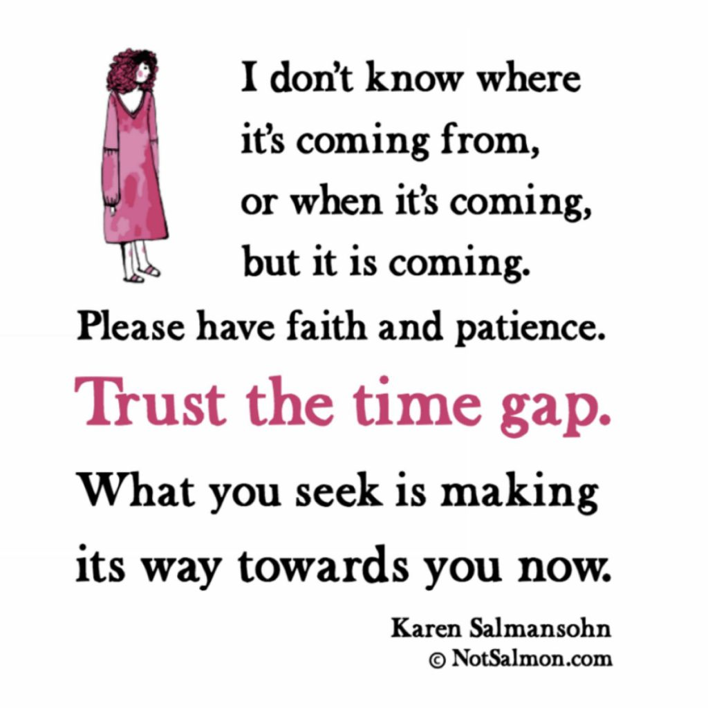 calming saying karen salmansohn