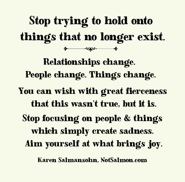 Try Not To Take Things Personally: Stop Trying To Hold Onto Things That Don't Exist
