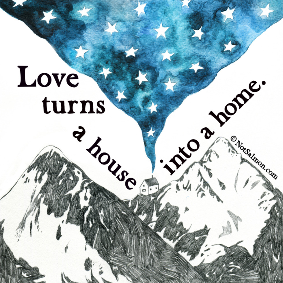 quote love house home