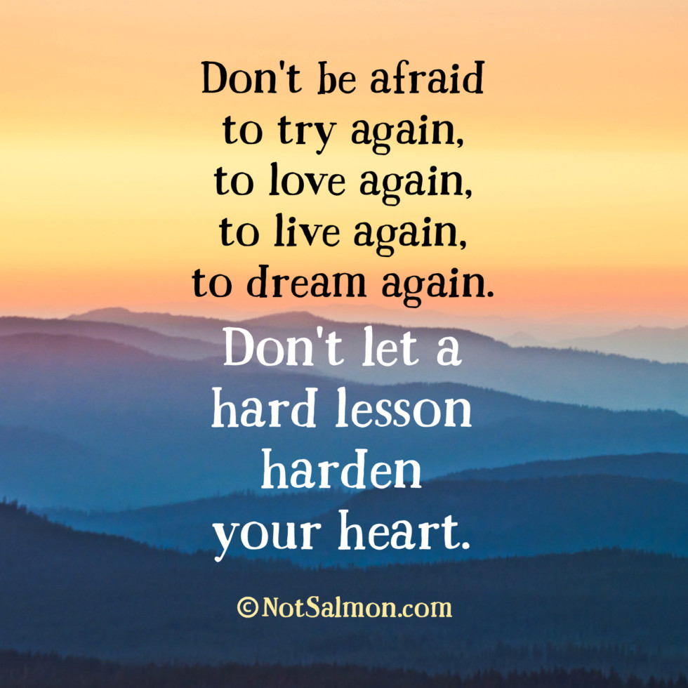 Quotes About Life And Love And Lessons Don't Let A Hard Lesson Harden Your Heart  Karen Salmansohn