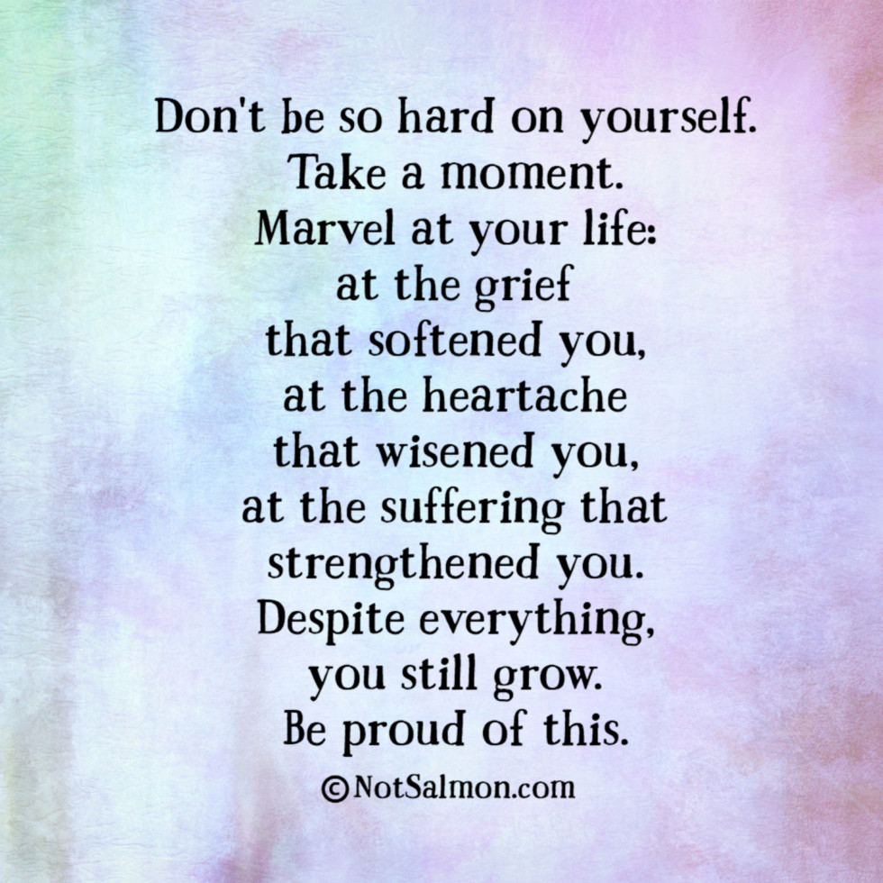 quote hard self grief grow
