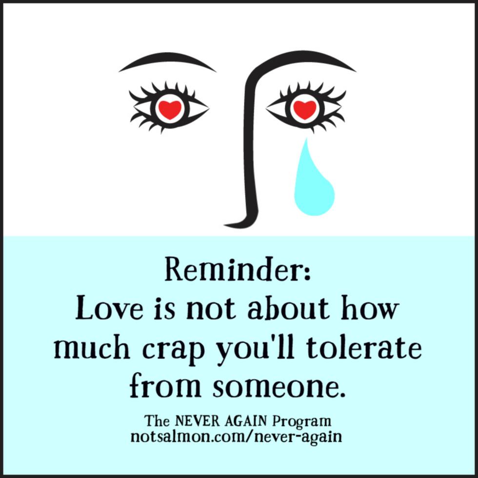 love crap tolerate