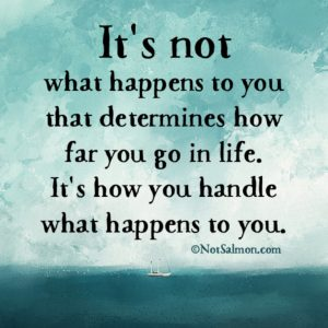 what happens in life quote karen salmansohn