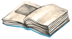 Illustration of open book