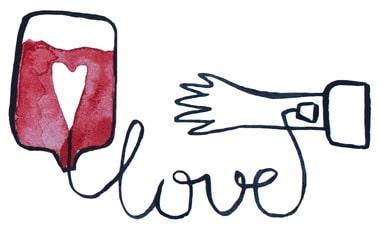Love transfusion illustration