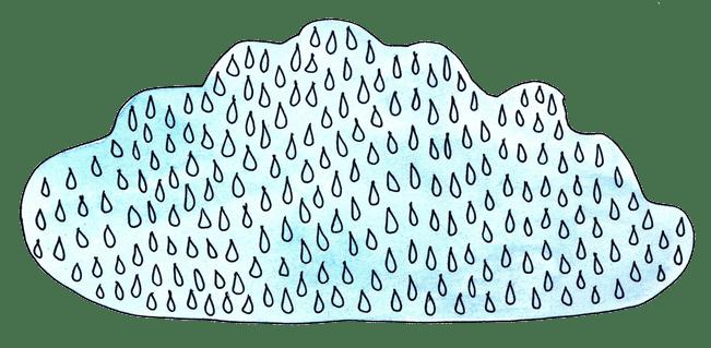 Rain cloud illustration