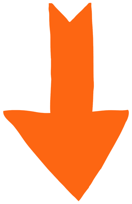 Orange down arrow icon