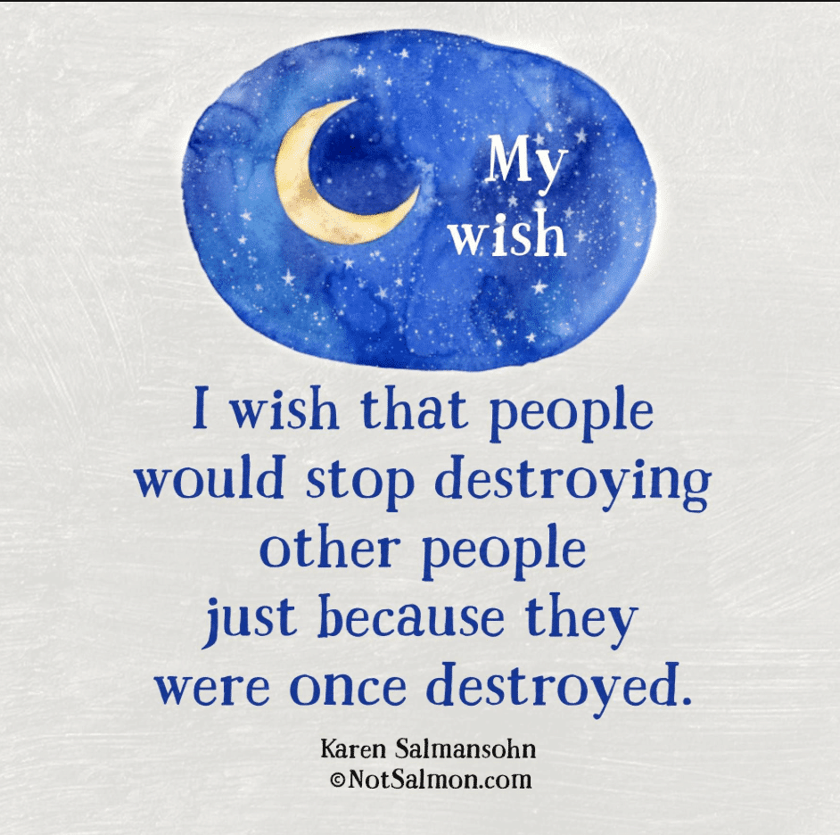 wish about people who hurt others