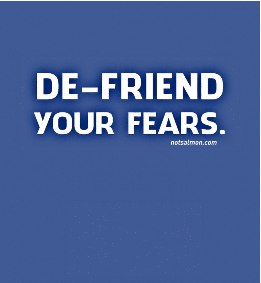 defriend your fears humorous quote about life
