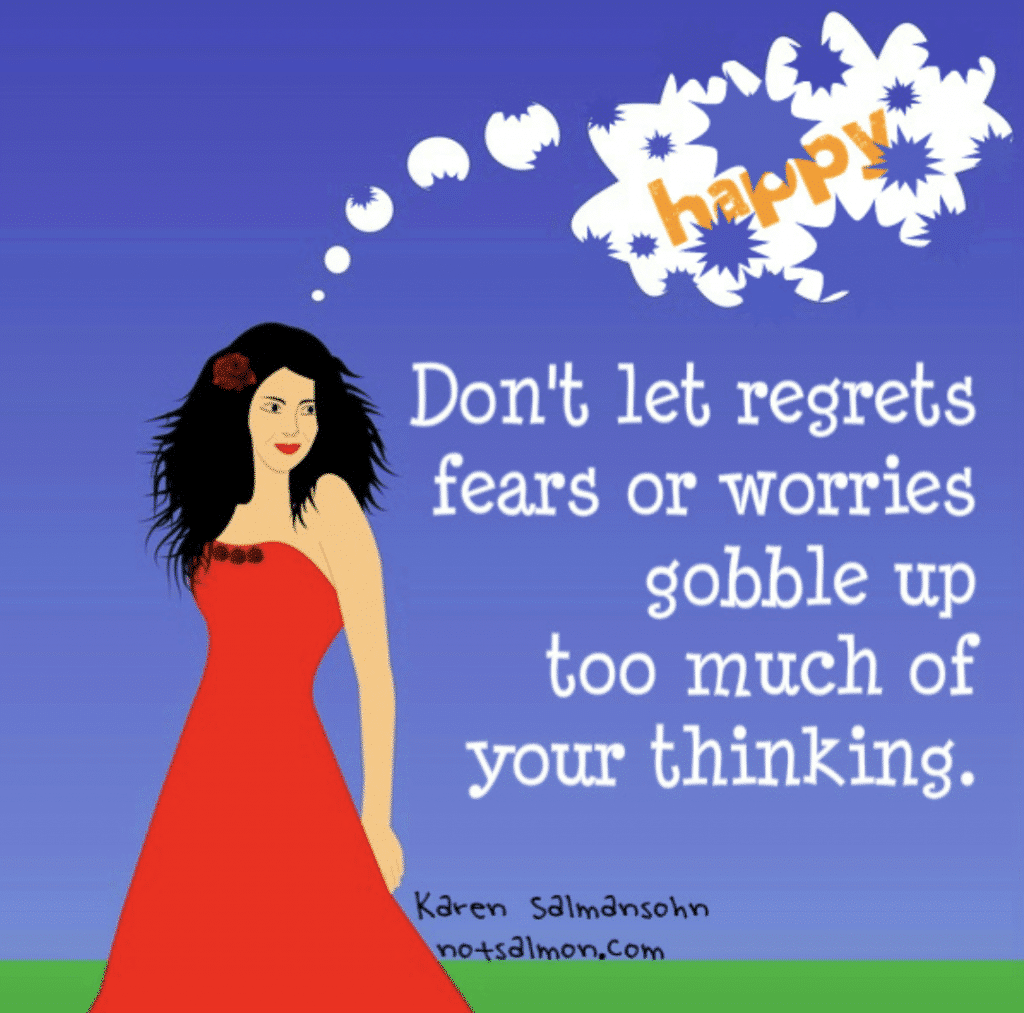 don't let worries gobble up thinking humorous reminder
