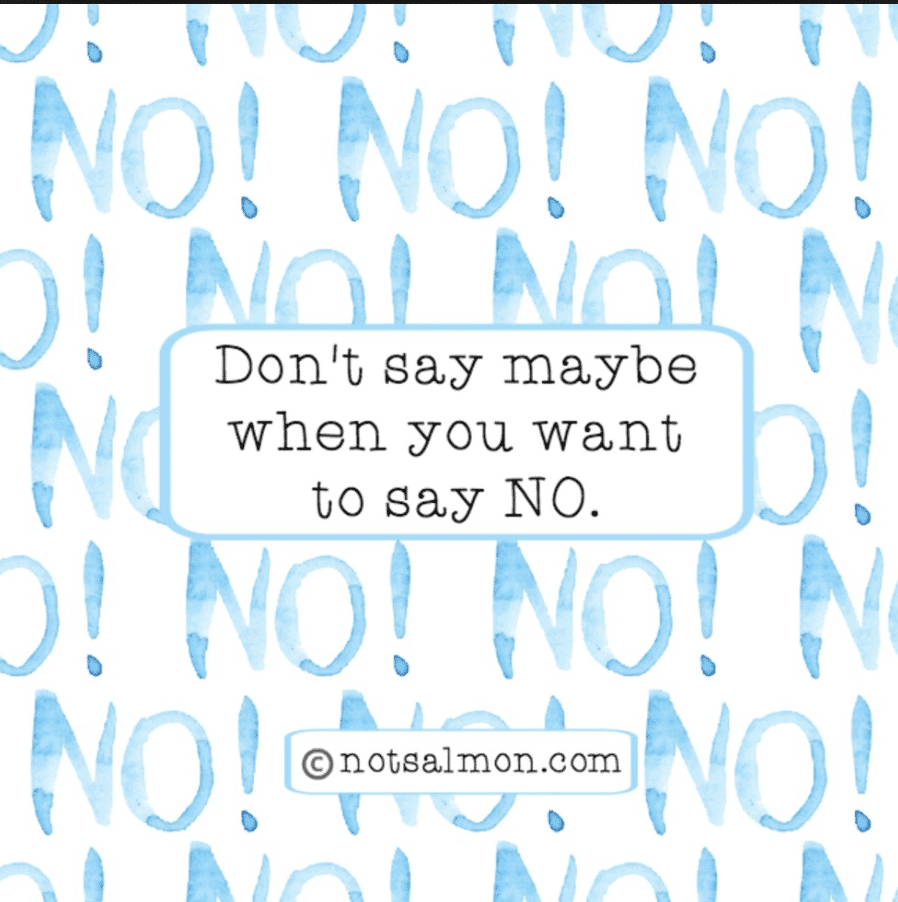 learn to say no humorous quote about life