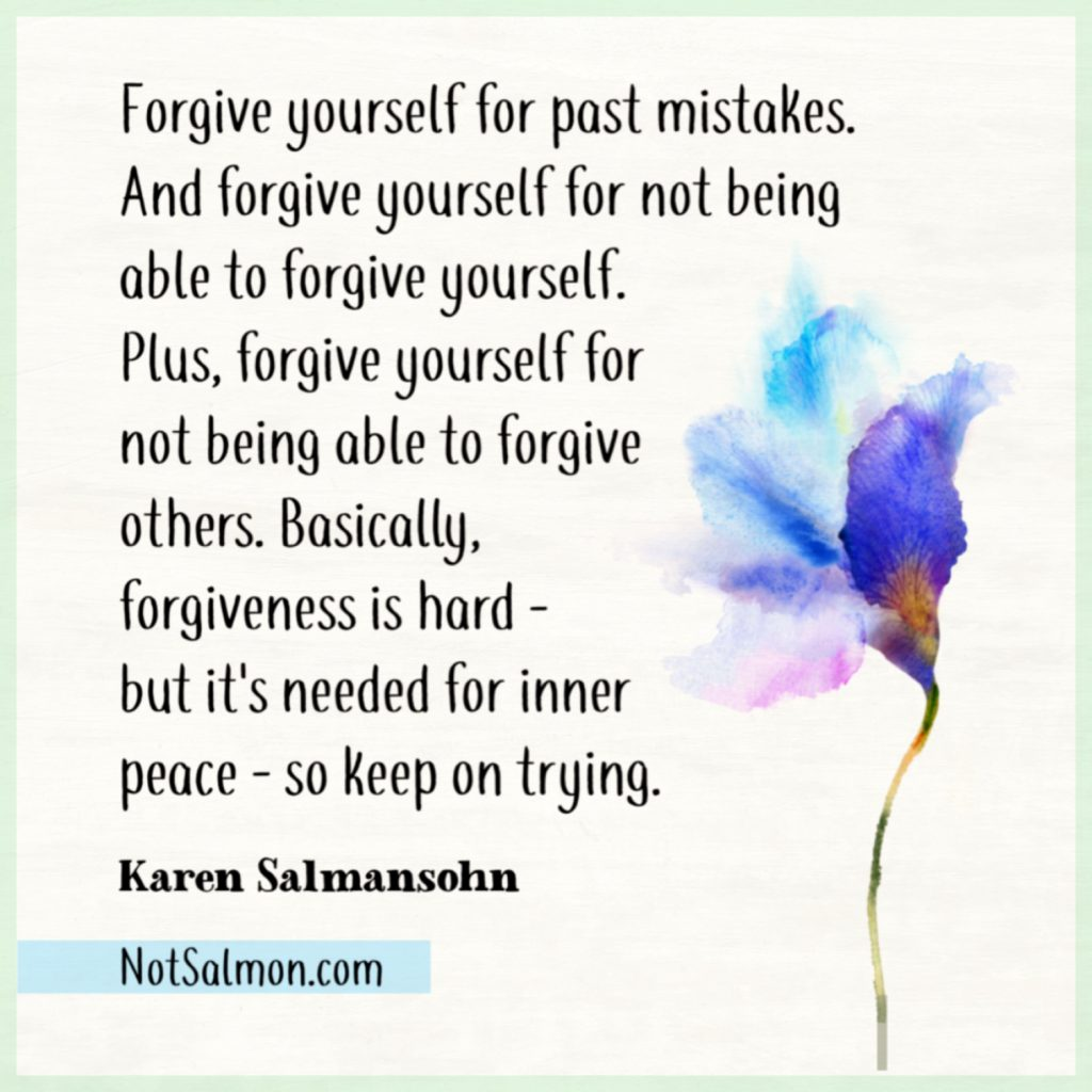 forgive yourself humorous quotes
