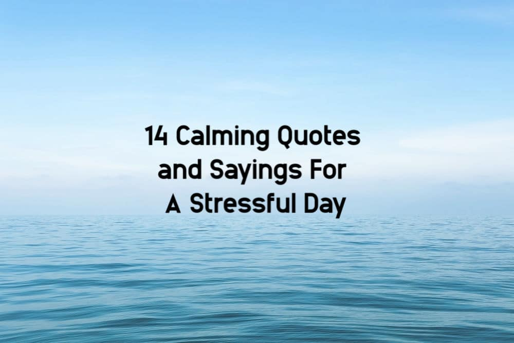 14 of The Best Calming Quotes On Stress For Stressful Days