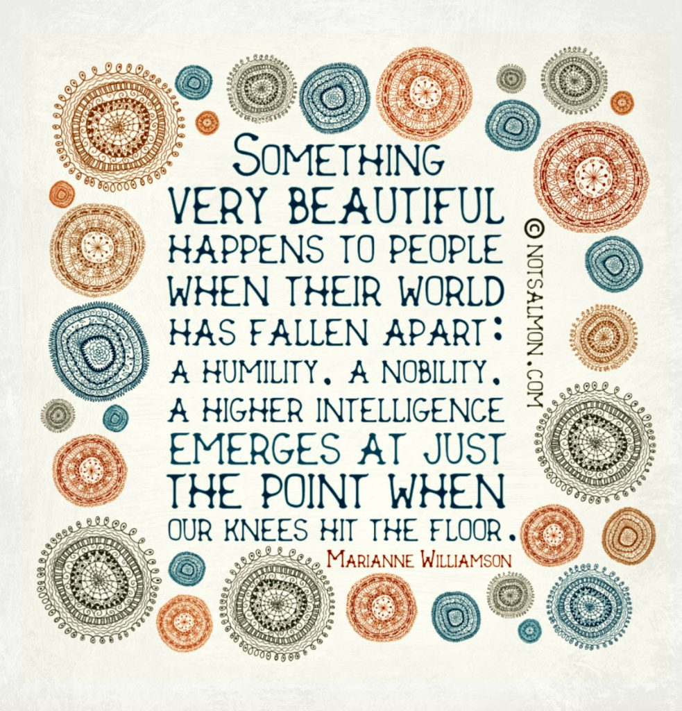 Motivational saying about when things fall apart