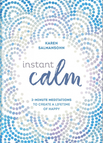 instant calm book of 2 minute meditations