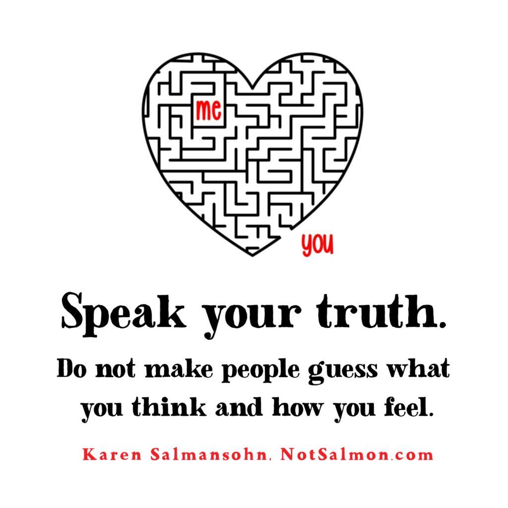speak your truth karen salmansohn