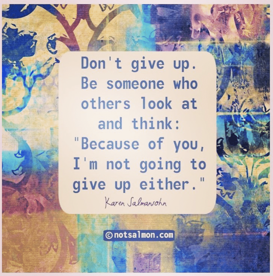 don't give up inspiration quote