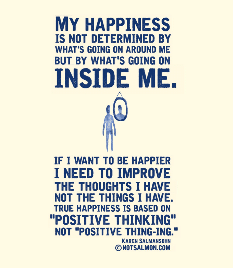 happiness is inside of you meaningful life