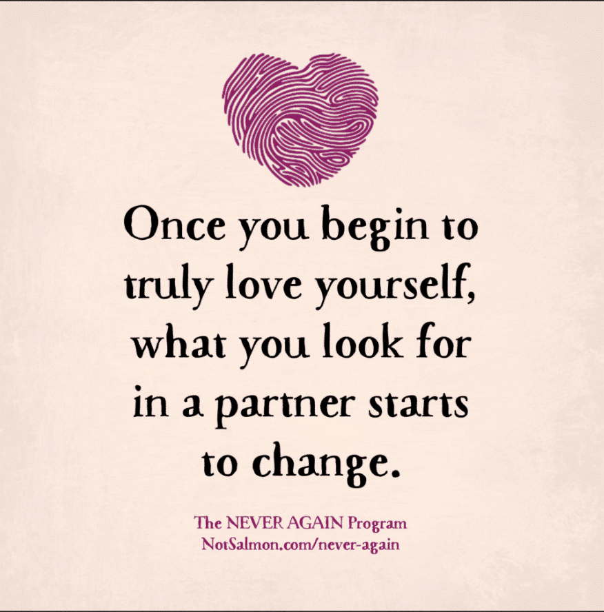 love yourself more and your partners change quote
