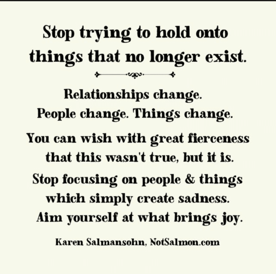 life quote about letting go