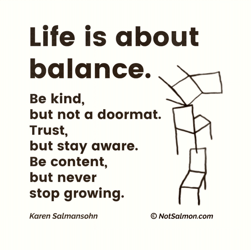 life is about balance quote
