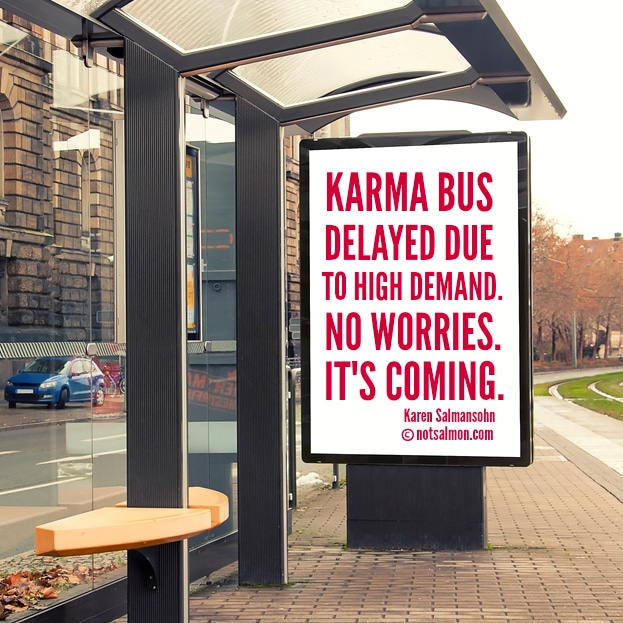 karma bus quote