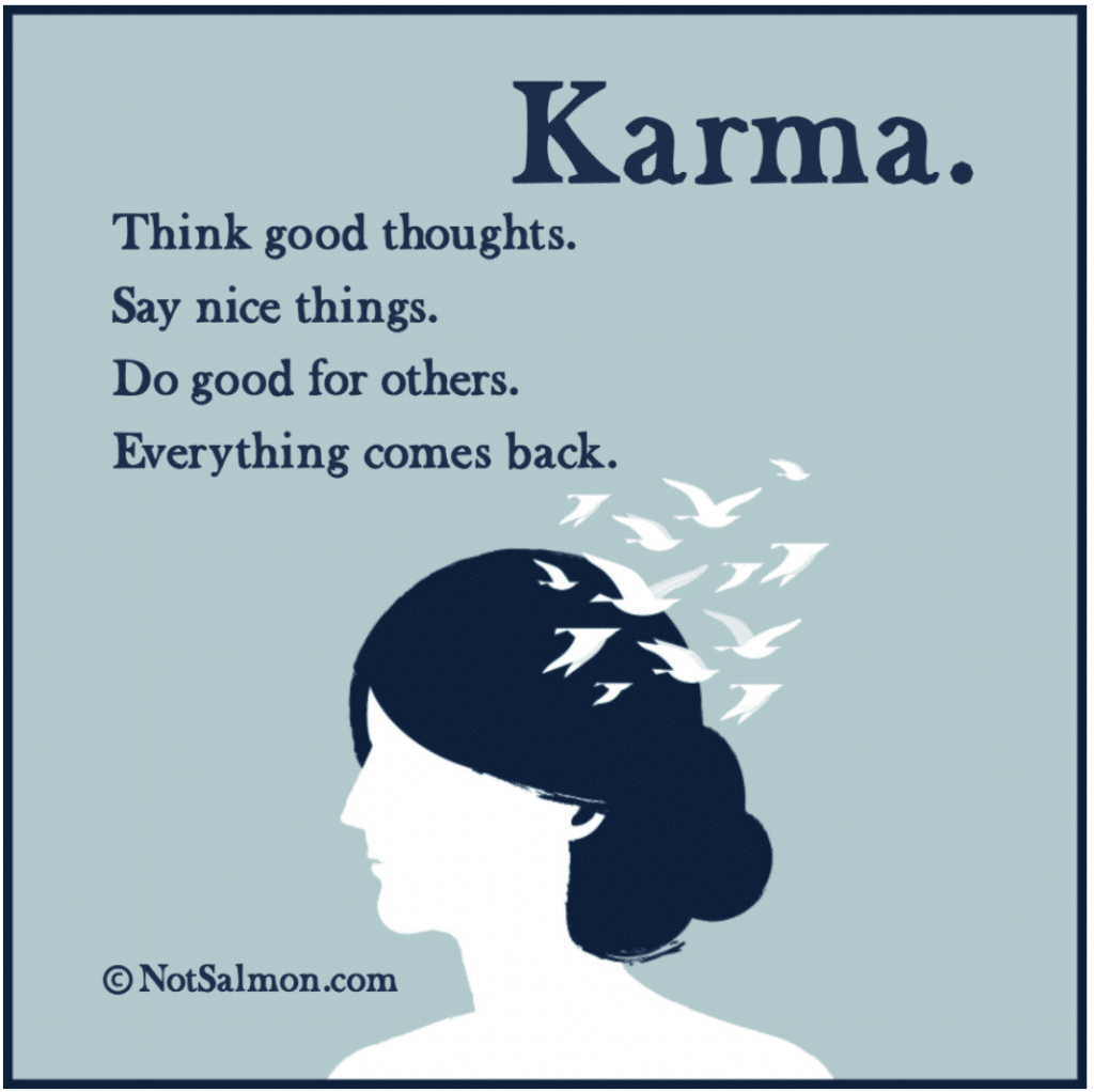 karma beautiful quote