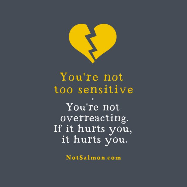 not too sensitive quote