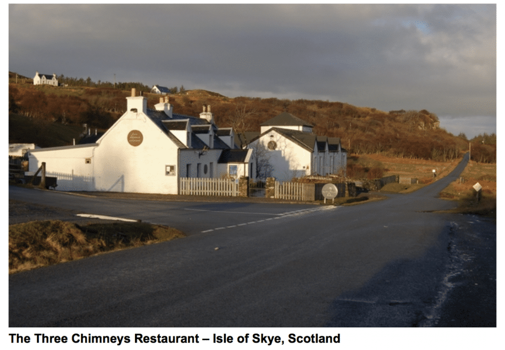 unique restaurant scotland