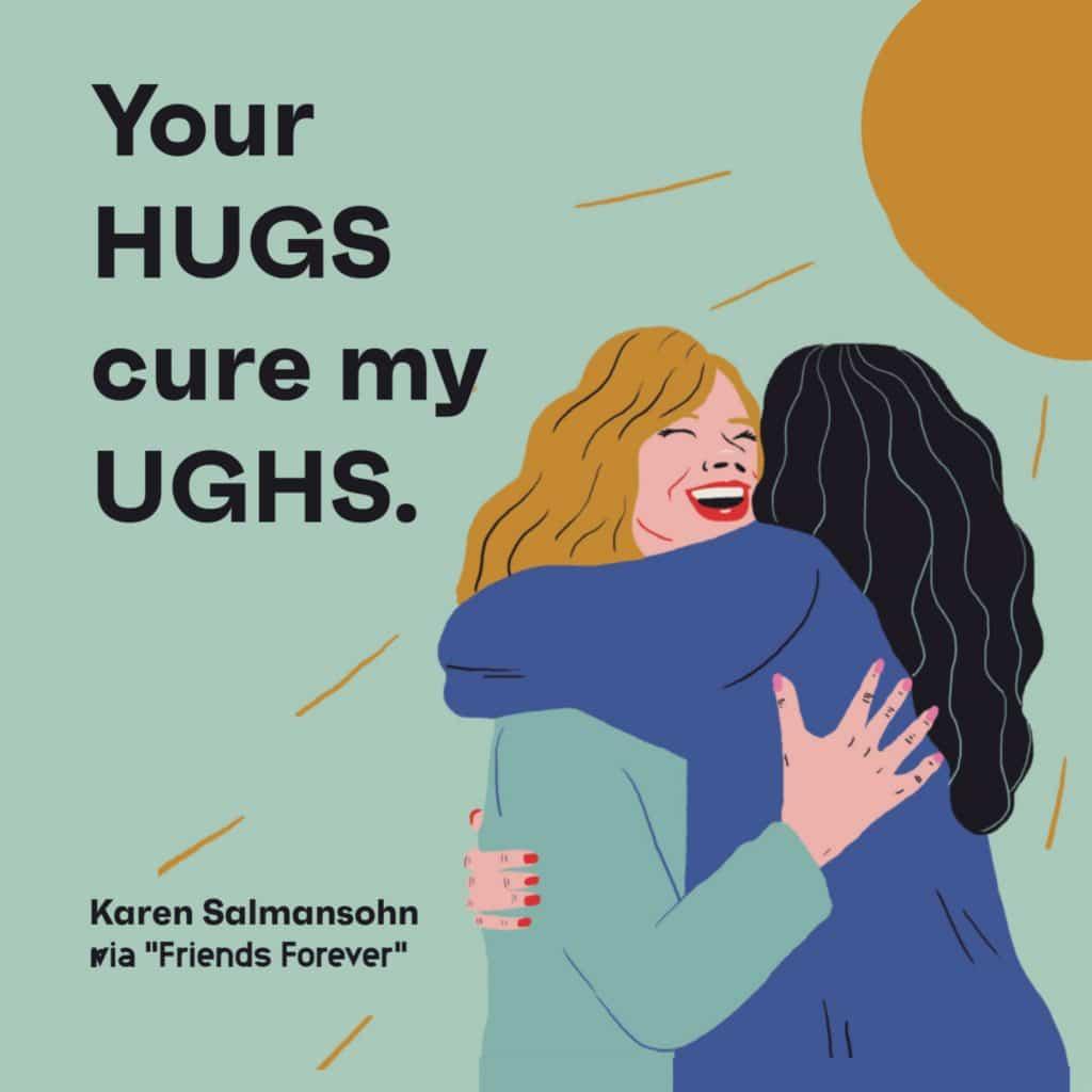 quote hugs cute