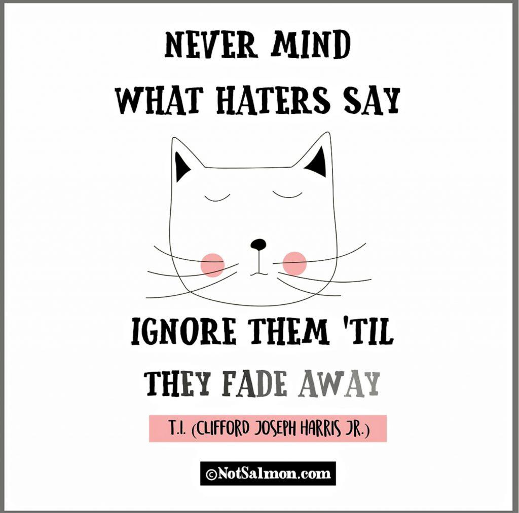 saying about haters designed by karen salmansohn
