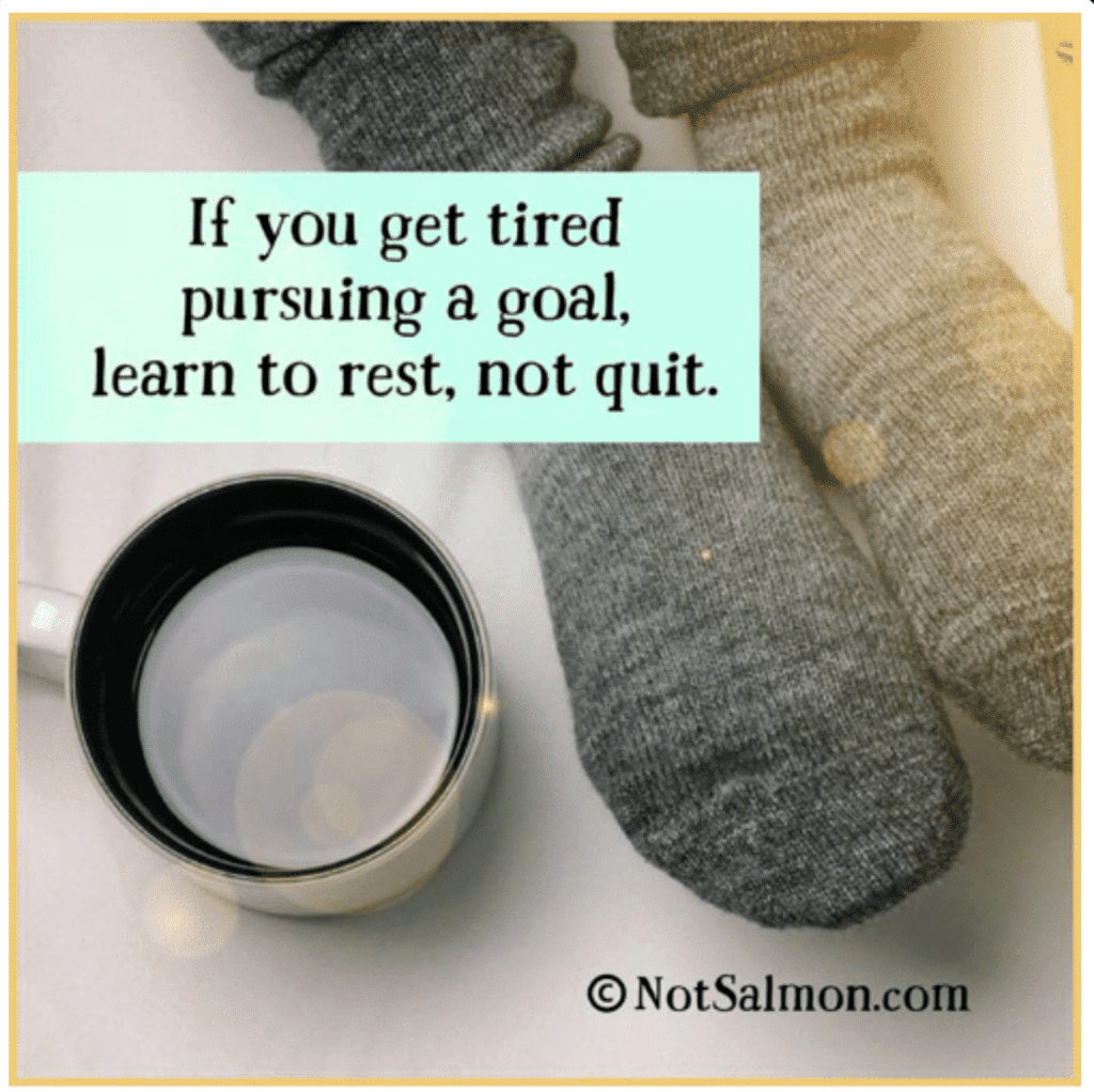 learn to rest not quit karen salmansohn