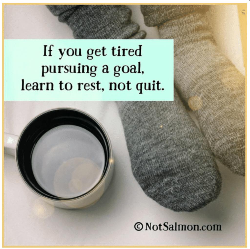learn to rest not quit karen salmansohn