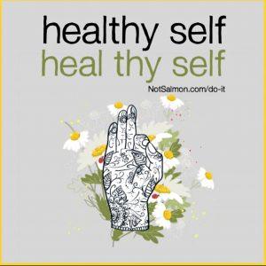 quote Allergy Solutions for healthy self karen salmansohn
