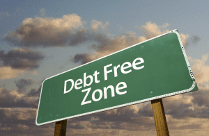 become debt free sign