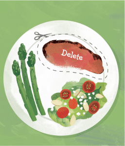 delete meat small change to be healthier