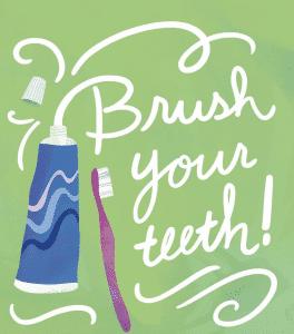 brush your teeth karen salmansohn artwork