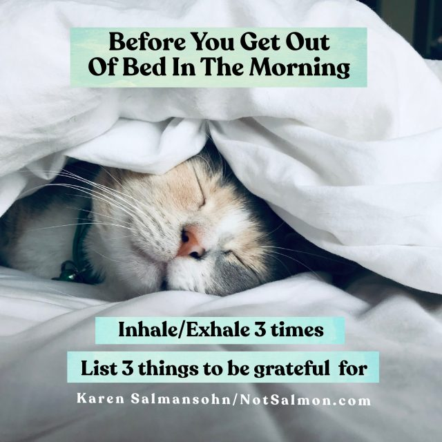 before you get out of bed in the morning