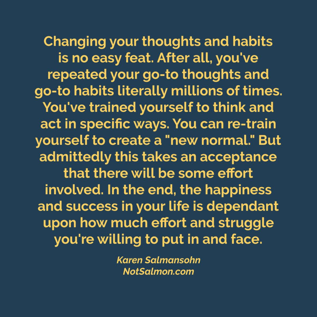 quote change your thoughts and habits