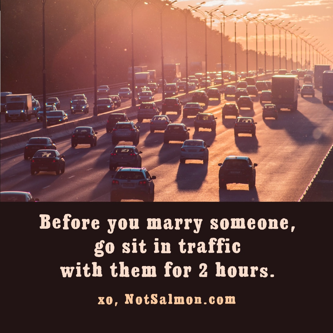 quote dating advice driving car traffic