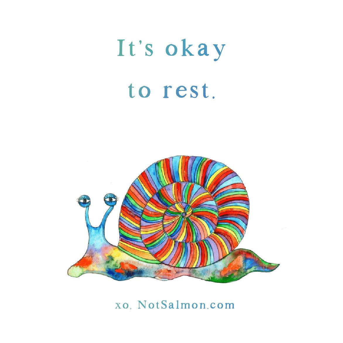 it's okay to rest quote salmansohn
