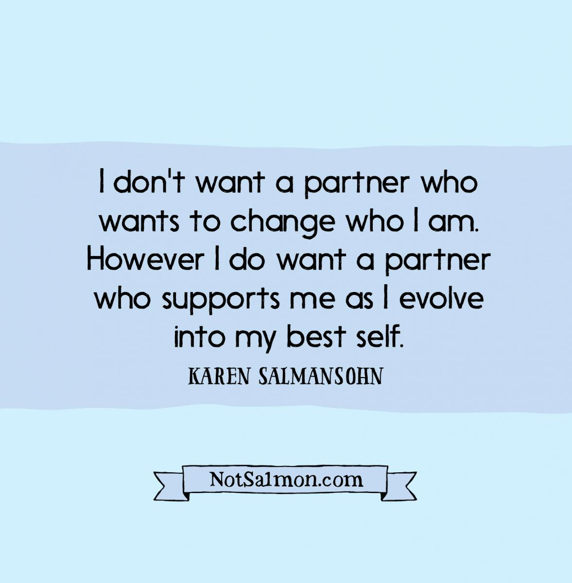 quote dating advice partner who support evolution
