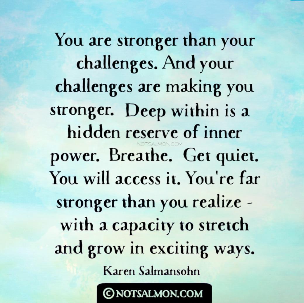 quote change personal growth karen salmansohn