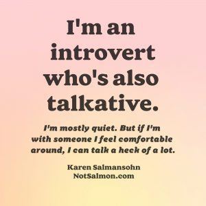 talkative introvert quote