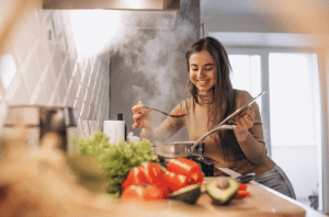 cook for your mom to make her happy