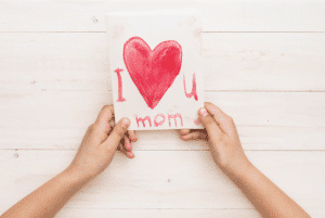 write a loving card to your mom