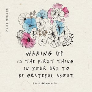 gratitude keeps you from worrying about the future