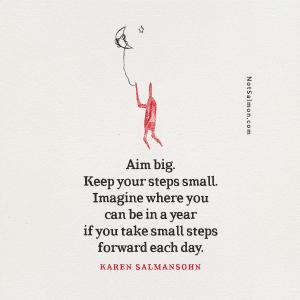 aim big success quote