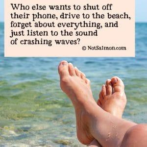 relaxation beach visualization