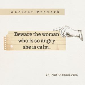 woman calm warning